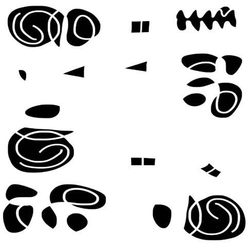 Pristowscheg.Nivuro precolombino.Perspectivas cromáticas.Abstract Art.Digital Art.Abstracción sobre fondo blanco. 91x91 cm | 36x36 in
