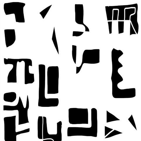 Pristowscheg.Nivuro precolombino.Perspectivas cromáticas.Abstract Art.Digital Art.Glifomanía. 91x91 cm | 36x36 in