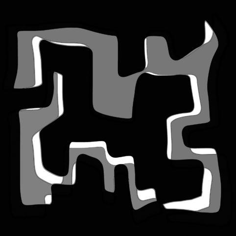 Pristowscheg.Nivuro precolombino.Perspectivas cromáticas.Abstract Art.Digital Art.Chamántico. 91x91 cm | 36x36 in