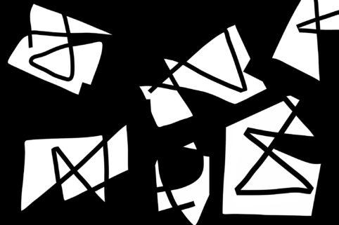 Pristowscheg.Nivuro precolombino.Perspectivas cromáticas.Abstract Art.Digital Art.Máscaras. 76x114 cm | 30x45 in