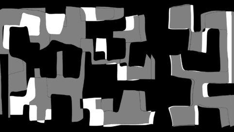 Pristowscheg.Nivuro precolombino.Perspectivas cromáticas.Abstract Art.Digital Art.Haka. 91x162 cm | 36x64 in