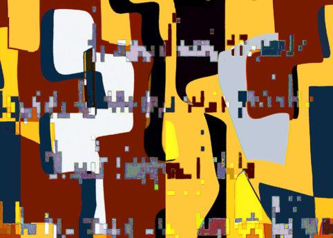 Pristowscheg.La estética de la palabra.Perspectivas cromáticas.Abstract Art.Digital Art.SE NON DOVESSI TORNARE. 76x106 cm | 30x42 in
