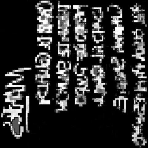 Pristowscheg.La estética de la palabra.Perspectivas cromáticas.Abstract Art.Digital Art.Martes negro. 66x66 cm | 26x26 in