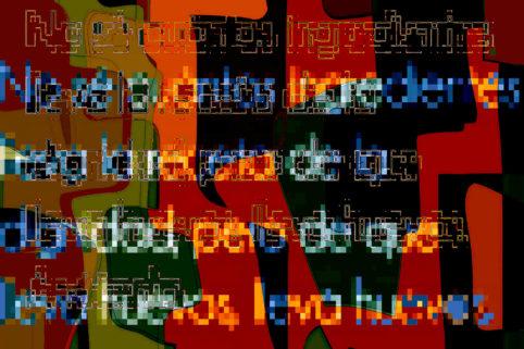 Pristowscheg.La estética de la palabra.Perspectivas cromáticas.Abstract Art.Digital Art.LOS INGREDIENTES DE LA DIGNIDAD. 76x114 cm | 30x45 in