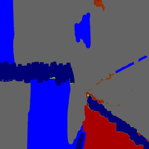 Pristowscheg.Punto y coma.Perspectivas cromáticContraste con rojo. 76x76 cm | 30x30 in