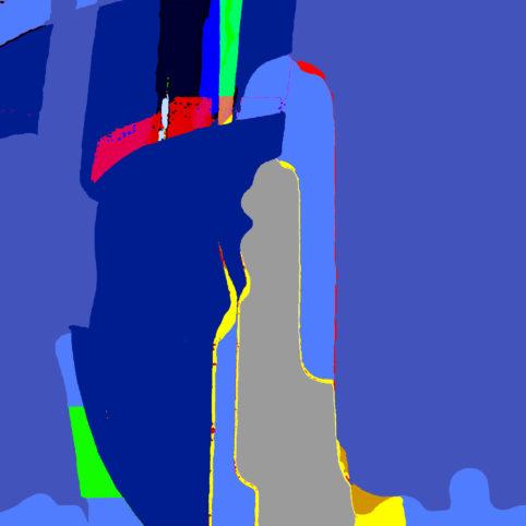 Pristowscheg.Punto y coma.Perspectivas cromáticCuadrado rítmico. 76x76 cm | 30x30 in