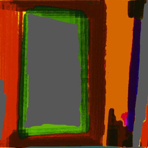 Pristowscheg.Punto y coma.Perspectivas cromáticHacia la oscuridad. 60x60 cm | 24x24 in