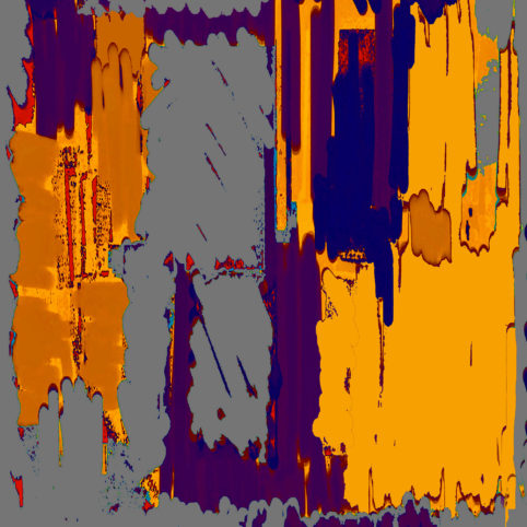 Pristowscheg.Punto y coma.Perspectivas cromáticTonalidades. 76x76  cm | 30x30 in