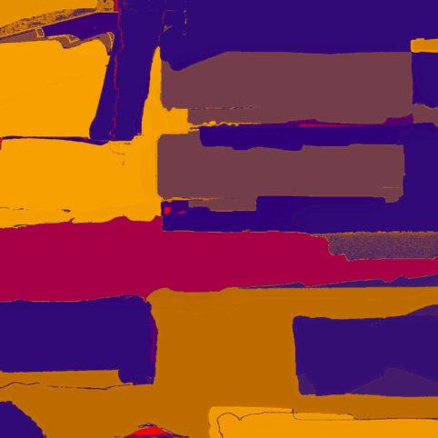 Pristowscheg. Digital Art. Abstract Art. Transversalidades cromáticas 61x61 cm | 24x24 in