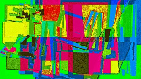 Pristowscheg.Las teorías.Perspectivas cromáticas.Abstract Art. Digital Art.1ra teoría. 64x114 cm | 25,3x45 in