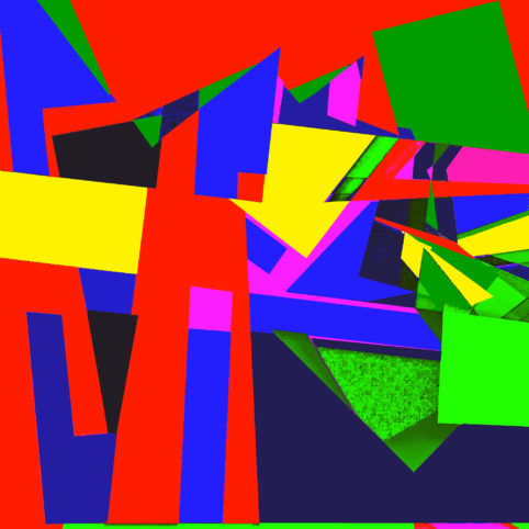 Pristowscheg.Las teorías.Perspectivas cromáticas.Abstract Art. Digital Art.Cromoteoría. 101x101 cm | 40x40 in