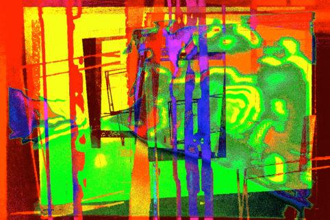 Pristowscheg.Capítulo IV.Perspectivas cromáticas.Abstract Art. Digital Art.Visión fugaz. 76x114 cm | 30x45 in