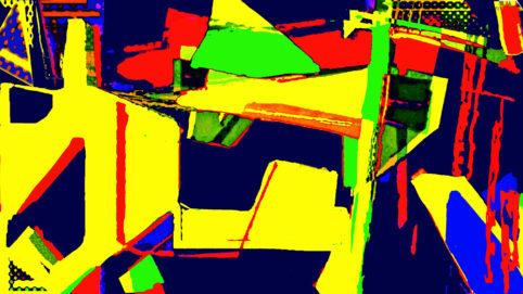Pristowscheg.Capítulo IV.Perspectivas cromáticas.Abstract Art. Digital Art.Claro amarillo. 101x180 cm | 40x71,11 in