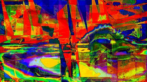 Pristowscheg.Capítulo IV.Perspectivas cromáticas.Abstract Art. Digital Art.Battlefield. 71x127 cm | 28x50 in