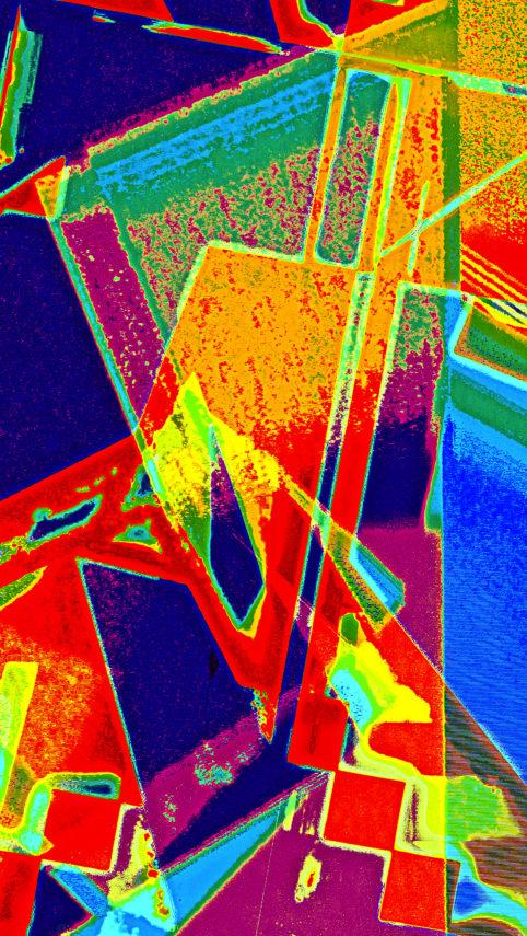 Pristowscheg.Capítulo IV.Perspectivas cromáticas.Abstract Art. Digital Art.Figura. 135x76 cm | 53,25x30 in