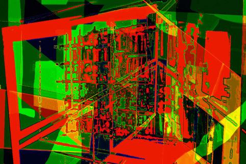 Pristowscheg.Capítulo IV.Perspectivas cromáticas.Abstract Art. Digital Art.Perspectivas. 68x101 cm | 26,67x40 in