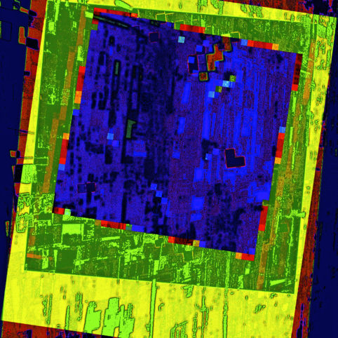 Pristowscheg.Capítulo IV.Perspectivas cromáticas.Abstract Art. Digital Art.Sur un tableau vert. 61x61 cm | 24x34 in