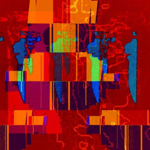 Pristowscheg.Capítulo IV.Perspectivas cromáticas.Abstract Art. Digital Art.Shadows. 101x101 cm | 40x40  in