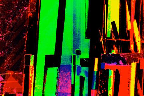 Pristowscheg.Capítulo IV.Perspectivas cromáticas.Abstract Art. Digital Art.Riflessi. 76x114 cm | 30x45  in
