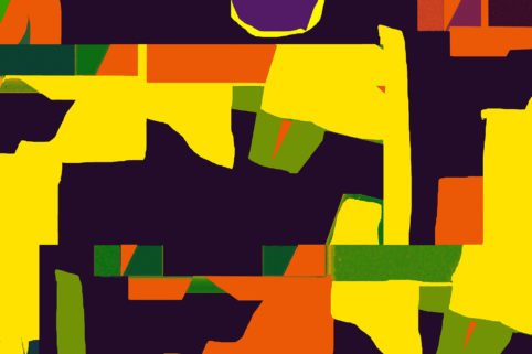 Pristowscheg.Los galimatías.Perspectivas cromáticas.Abstract Art. Digital Art.Le Roi D'Afrique. 91x137 cm | 36x54 in