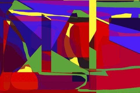 Pristowscheg.Los galimatías.Perspectivas cromáticas.Abstract Art. Digital Art.Avileña. 81x122 cm | 32x48 in