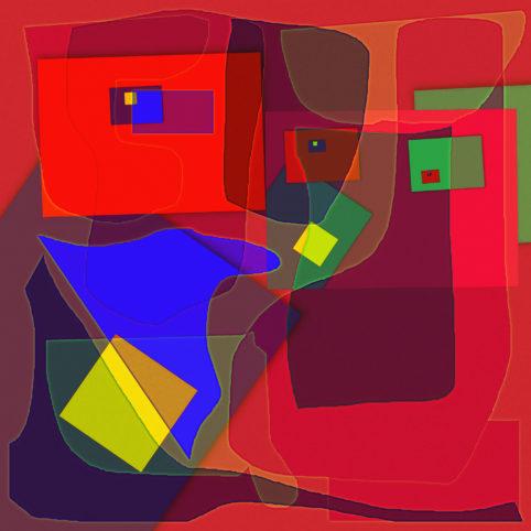 Pristowscheg.Los galimatías.Perspectivas cromáticas.Abstract Art. Digital Art.Idea póstuma. 91x91 cm | 36x36 in