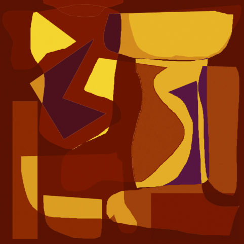 Pristowscheg.Los galimatías.Perspectivas cromáticas.Abstract Art. Digital Art.Natura morta. 91x91 cm | 36x36 in