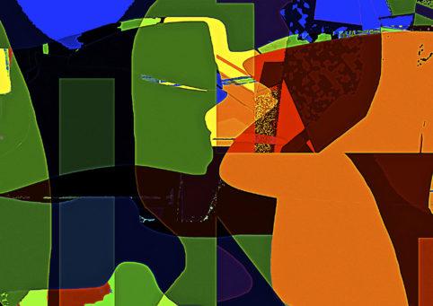 Pristowscheg.Los galimatías.Perspectivas cromáticas.Abstract Art. Digital Art.Contrappunto. 84x119 cm | 33x47 in