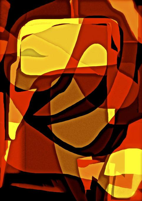 Pristowscheg.Los galimatías.Perspectivas cromáticas.Abstract Art. Digital Art.Galimatic Mood. 136x96 cm | 53,65x38 in