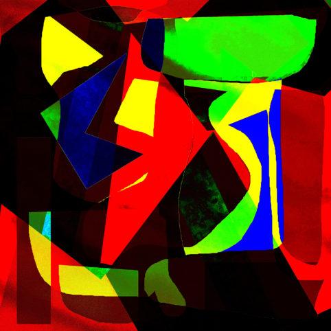 Pristowscheg.Los galimatías.Perspectivas cromáticas.Abstract Art. Digital Art.Resemblance. 90x90 cm | 35,431x35,431 in