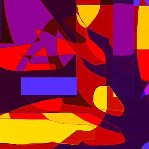 Pristowscheg.Los galimatías.Perspectivas cromáticas.Abstract Art. Digital Art.Watching The Sphinx. 91x91 cm | 36x36 in