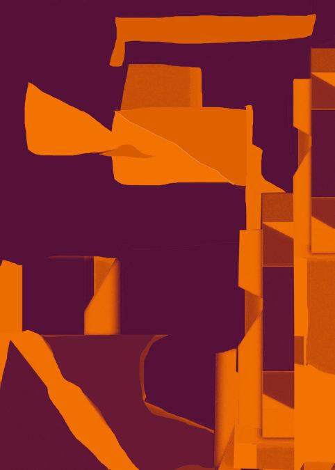 Pristowscheg.Los galimatías.Perspectivas cromáticas.Abstract Art. Digital Art.Quimera. 128x91 cm | 50,4x36 in