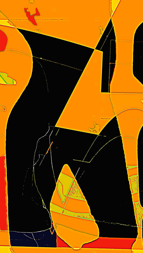 Pristowscheg.Los galimatías.Perspectivas cromáticas.Abstract Art. Digital Art.Extreme. 117x66 cm | 46x26 in