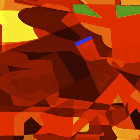 Pristowscheg.Los galimatías.Perspectivas cromáticas.Abstract Art. Digital Art.Spectru. 91x91 cm | 36x36  in