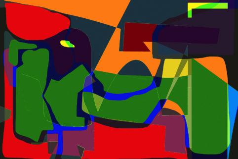 Pristowscheg. Los galimatías. Perspectivas cromáticas. Abstract Art. Digital Art.Galimatismo. 91x137  cm | 36x54 in