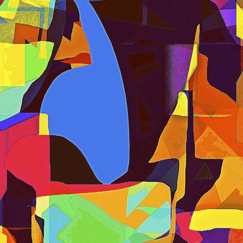 Pristowscheg. Los galimatías. Perspectivas cromáticas. Abstract Art. Digital Art.Three Hundred and Twelve. 91x91 cm | 36x36 in