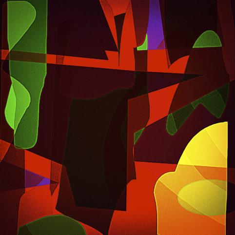 Pristowscheg. Los galimatías. Perspectivas cromáticas. Abstract Art. Digital Art.L'alabarda. 91x91 cm | 36x36 in