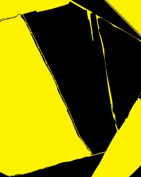 Pristowscheg. Busillis.Perspectivas cromáticas. Abstract Art. Digital Art.Dicromia in giallo e nero. 95x76 cm | 37,5x30 in