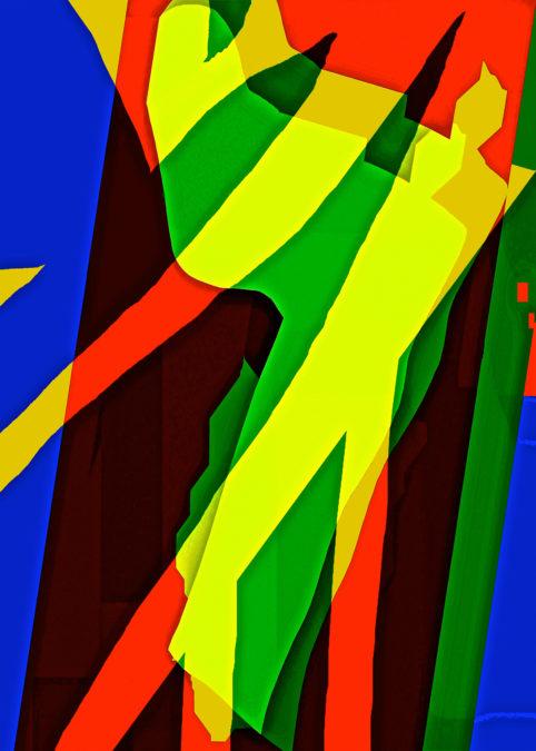 Pristowscheg. Busillis. Perspectivas cromáticas. Abstract Art. Digital Art.Tango pasión. 106x76 cm | 42x30  in