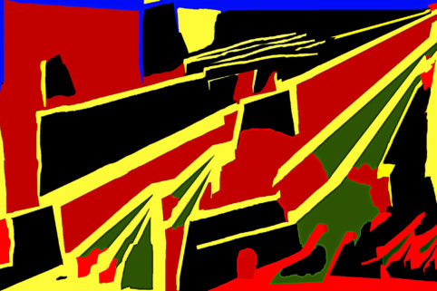 Pristowscheg. Busillis. Perspectivas cromáticas. Abstract Art. Digital Art.La bufanda de Isadora. 76x114 cm | 30x45 in