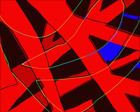 Pristowscheg. Busillis.Perspectivas cromáticas. Abstract Art. Digital Art.Nudo gordiano. 101,6x127 cm | 40x50 in