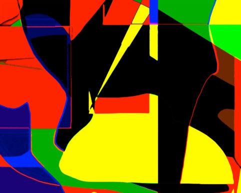 Pristowscheg. Busillis. Perspectivas cromáticas. Abstract Art. Digital Art.Enigma a Praga. 72x90 cm | 28,3x35,44 in