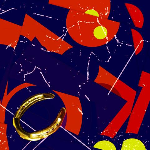 Pristowscheg. Busillis. Perspectivas cromáticas. Abstract Art. Digital Art.La herradura del caballo teórico. 40x40 cm | 15,75x15,75 in