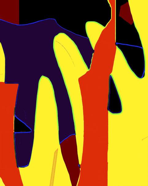 Pristowscheg. Busillis. Perspectivas cromáticas. Abstract Art. Digital Art.Forrest Gump. 95x76 cm | 37.5x30 in