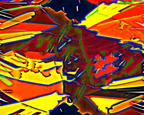 Pristowscheg.Busillis.Perspectivas cromáticas.Abstract Art. Digital Art.Spaventapasseri in un campo di  grano. 101x127 cm | 40x50 in