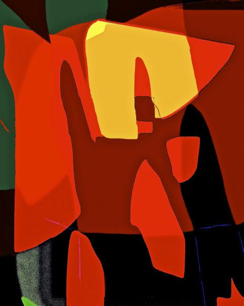 Pristowscheg.Busillis.Perspectivas cromáticas.Abstract Art. Digital Art.TA ROBE ROUGE. 95x76 cm | 37.5x30 in