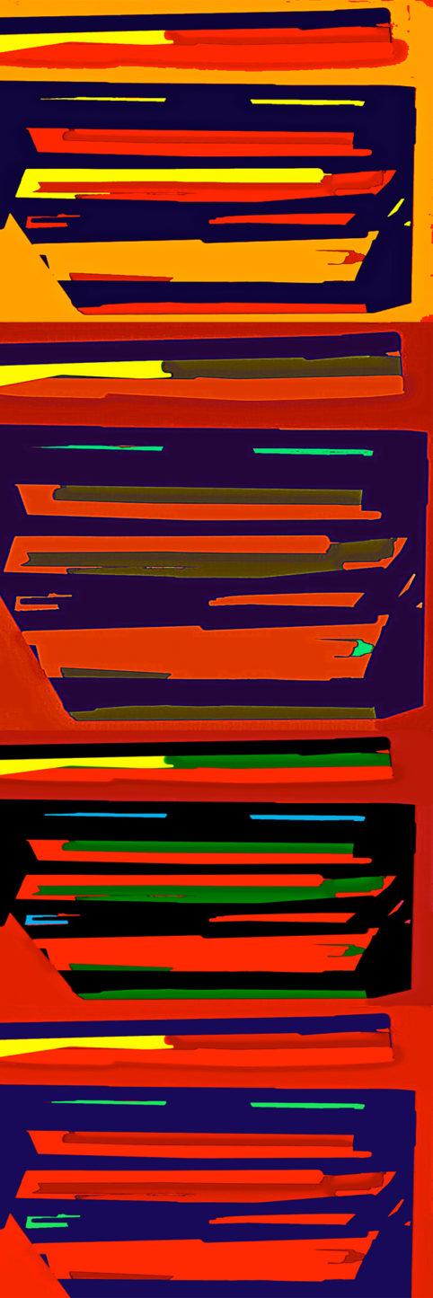 Pristowscheg.Busillis.Perspectivas cromáticas.Abstract Art. Digital Art.Striat #3. 120x40 cm | 47,25x15,75 in
