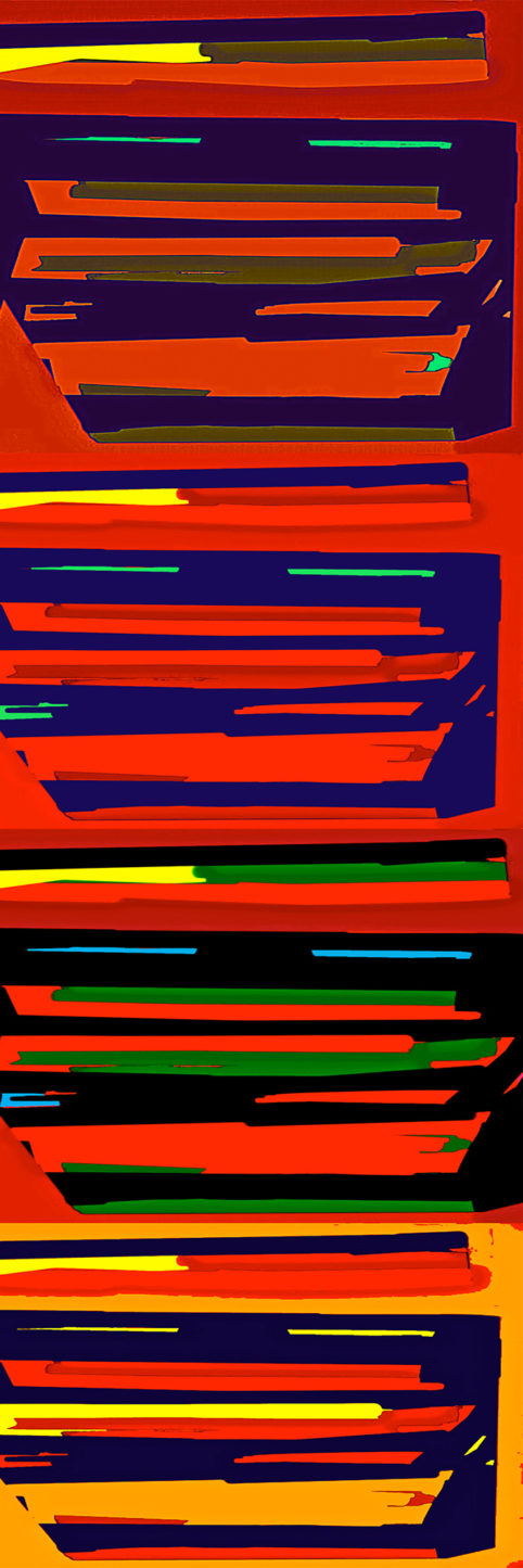 Pristowscheg. Digital Art. Abstract Art. Striat #4 120x40 cm | 47,25x15,75 in