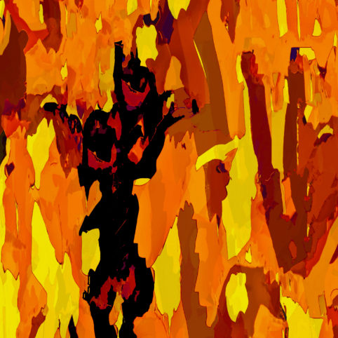 Pristowscheg.Busillis.Perspectivas cromáticas.Abstract Art. Digital Art.Metamorfosi ambrata. 91x91 cm | 36x36 in