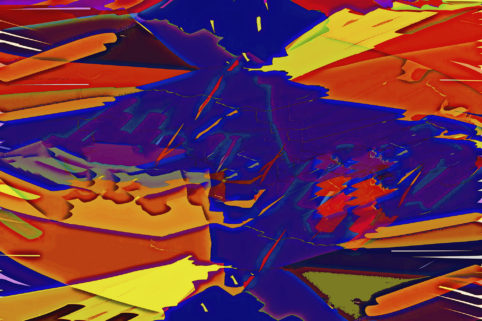 Pristowscheg.Busillis.Perspectivas cromáticas.Abstract Art. Digital Art.Abstracciones en azules. 91x137  cm | 36x54 in